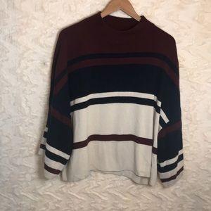 LOFT color block XL oversized sweater